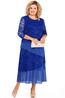 zila svetkiem kleita ar piespraudi